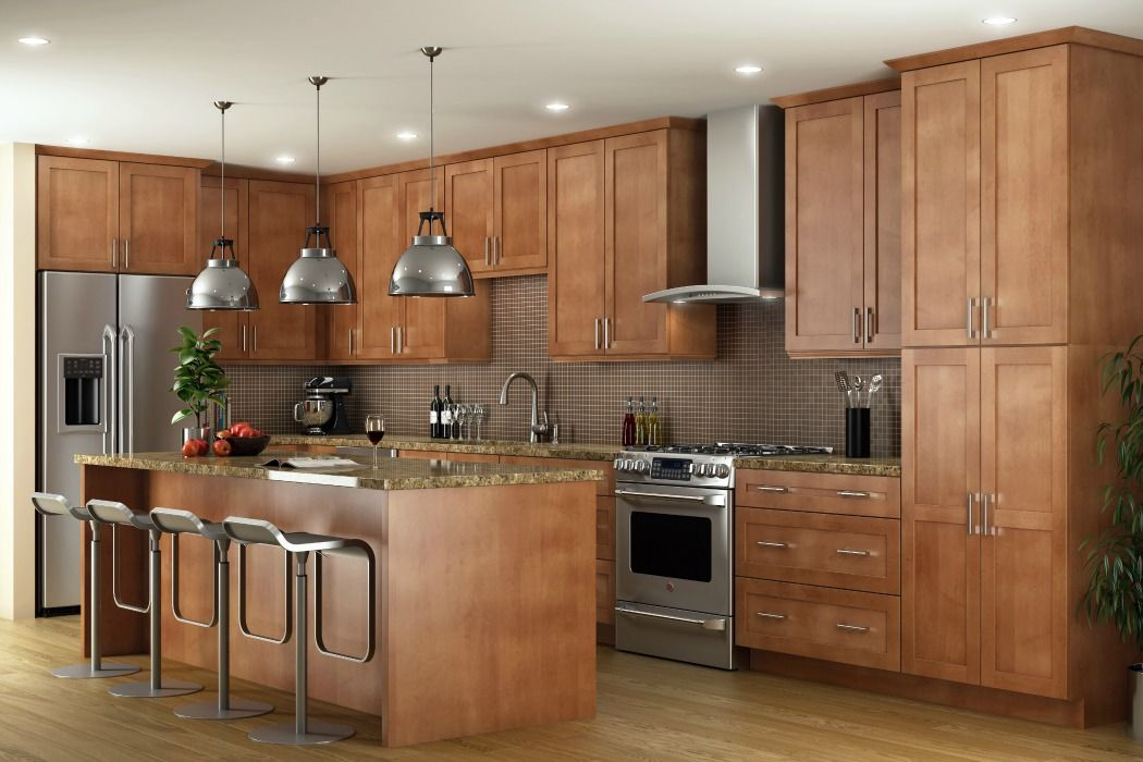 Pecan Shaker - Ready To Assemble Kitchen Cabinets - Kitchen Cabinets ...