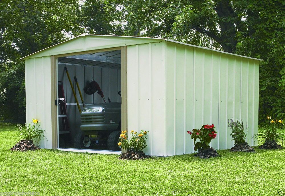 Arrow Metal Shed 10 X 10 Backyard Garden Shed Kit Outdoor Medium Yard Storage Arrowshedsarrowshedsarrowsto Backyard Storage Solutions Backyard Storage Shed