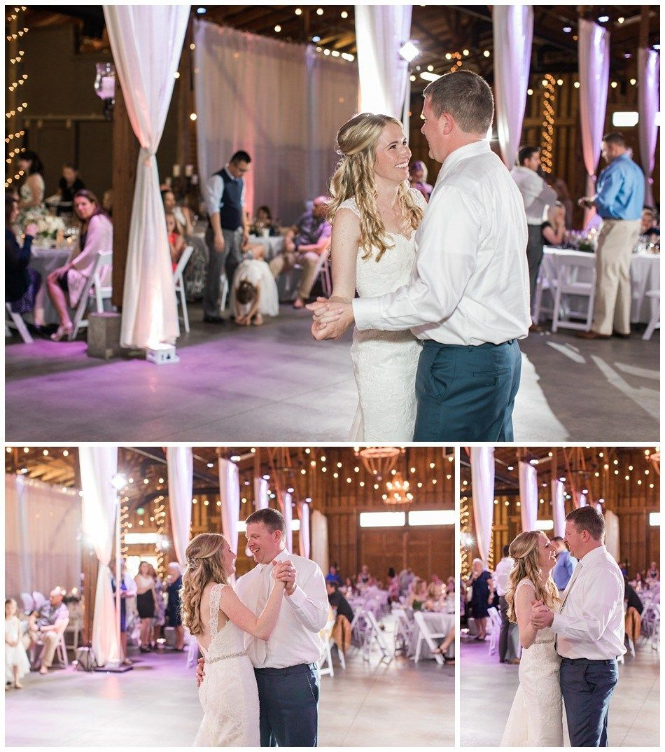 Photos Of The First Dance During The Reception Of An Elegant