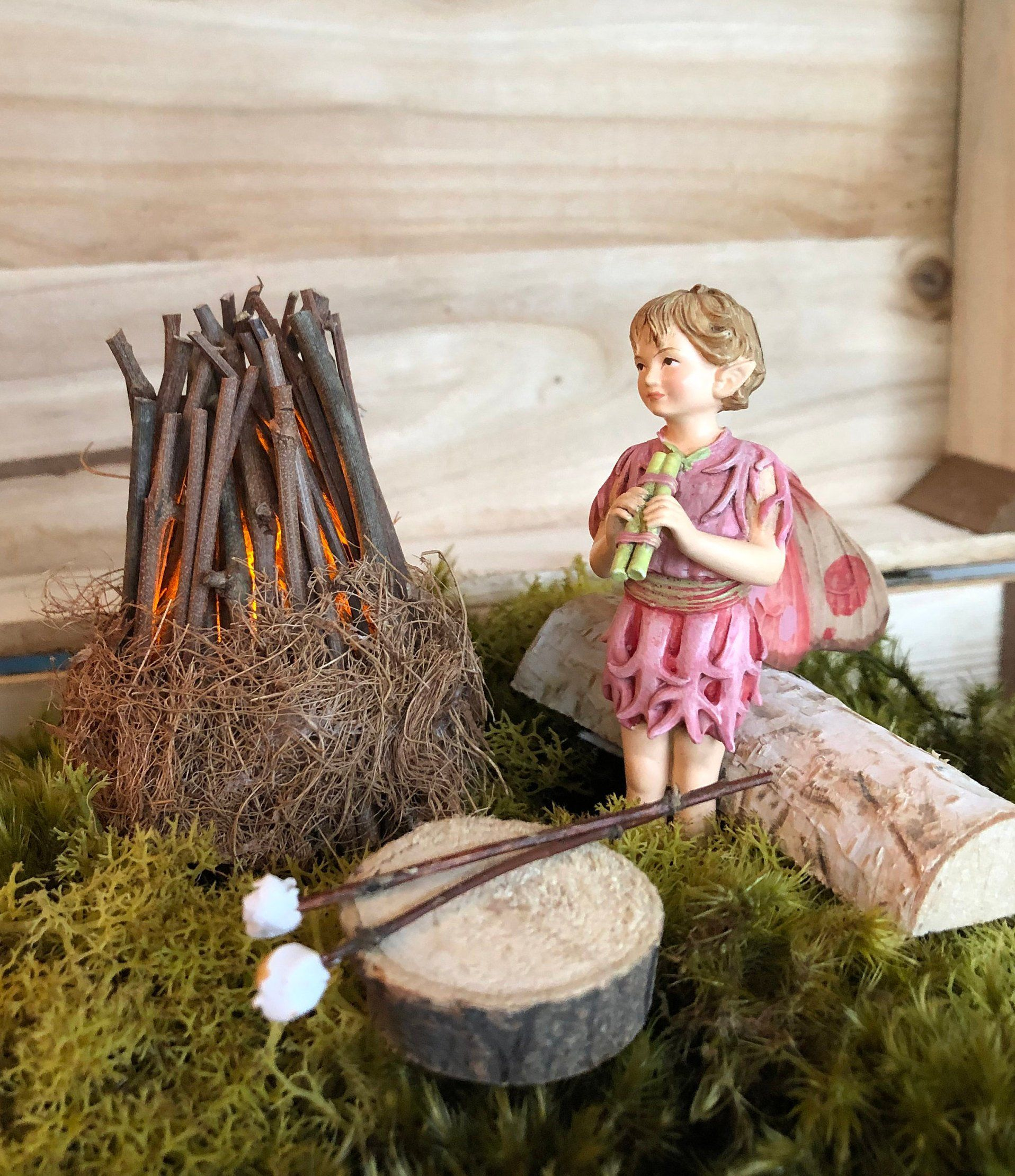 Miniature Campfire~ Marshmallow Sticks~ Fairy is Not Included~ Battery Operated Light by Olive~ Fairy Garden Fire Pit~ Fairy Garden Campfire #marshmallowsticks Miniature Campfire~ Marshmallow Sticks~ Fairy is Not Included~ Battery Operated Light by Olive~ Fairy Garden Fire Pit~ Fairy Garden Campfire #marshmallowsticks