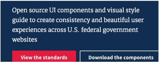 U.S. Web Design Standards homepage example