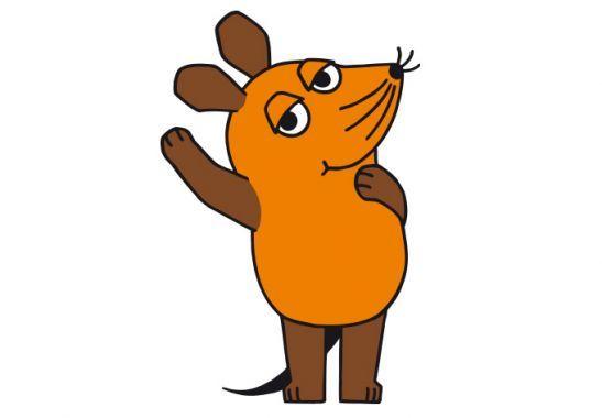 Wandtattoo Die Maus Winkt Dekoration Fur Kinder Mit Der Maus Wall Art De Sendung Mit Der Maus Maus Elefant Zeichnung