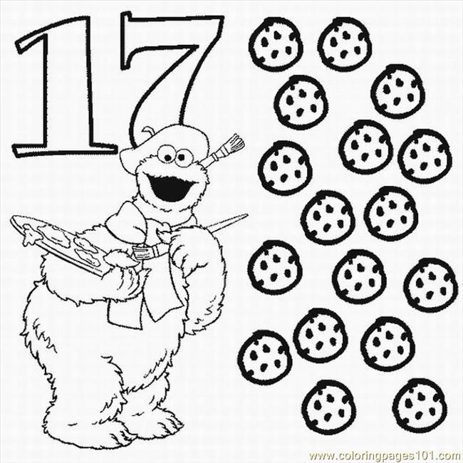 numbers coloring pages 17 free printable coloring image cookie