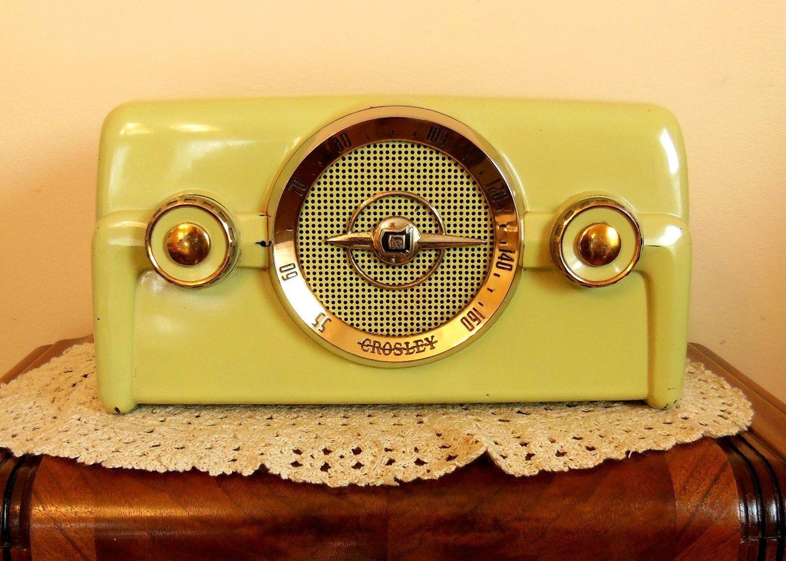 1950 Vintage Crosley Radio Model 10 137 Tube Radio And