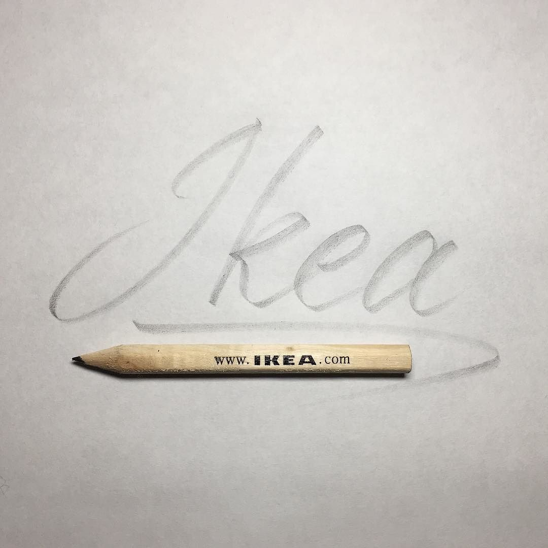 Would Like To Go To Ikea Lettering Calligraphy