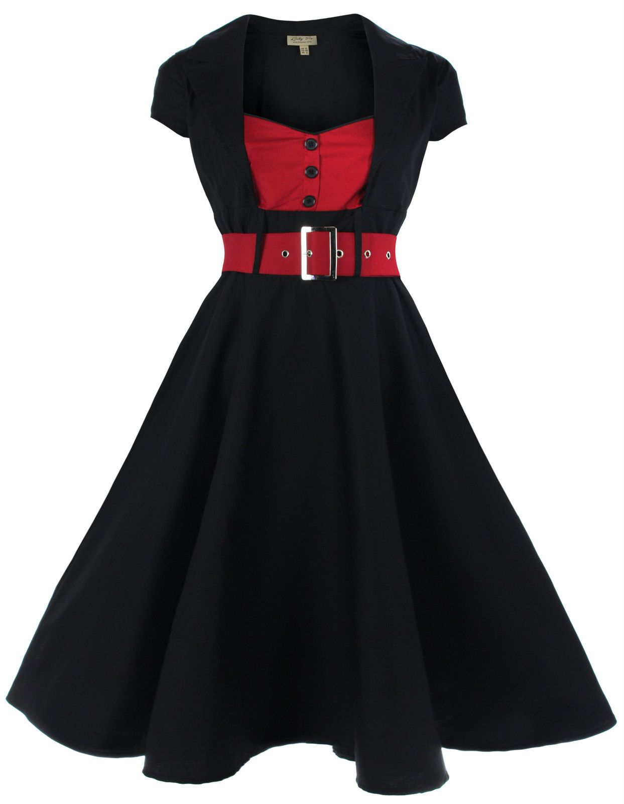 366de709aeed Lindy Bop Classy Vintage 1950 s Rockabilly Pinup Flared Swing Evening Dress