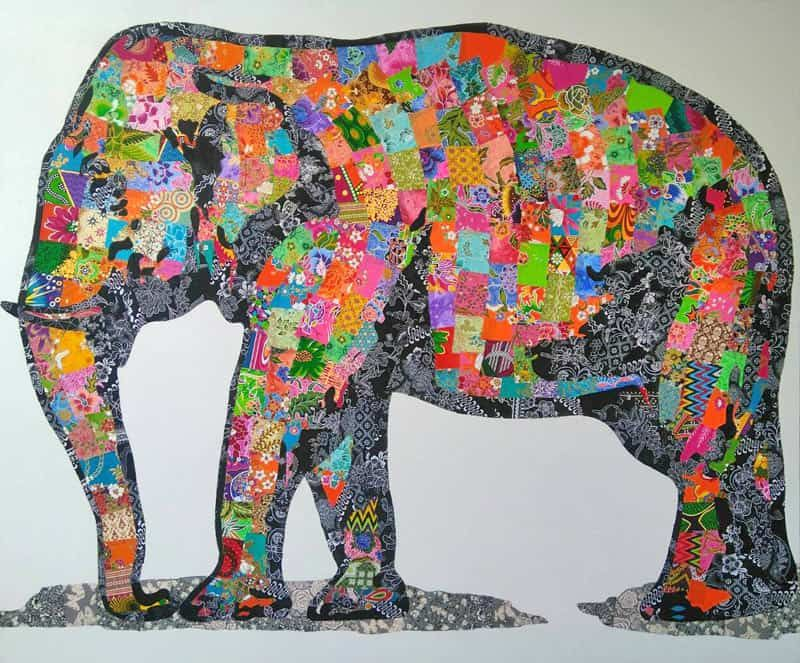 Tanawat Elephant Collage 02