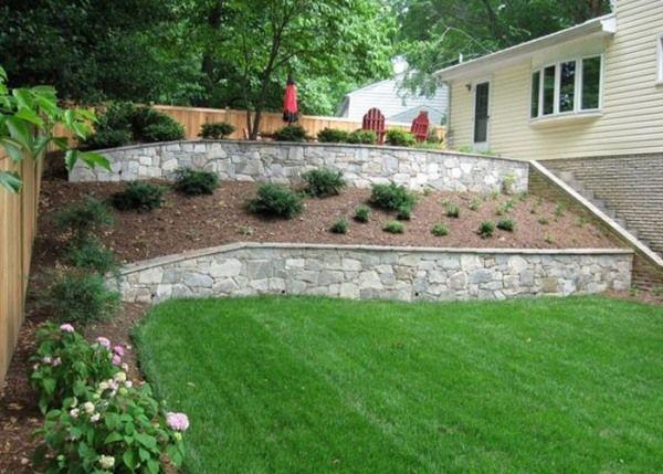 naturstein stützmauer-terrassen landschaftsbau | gärten, Gartenarbeit ideen