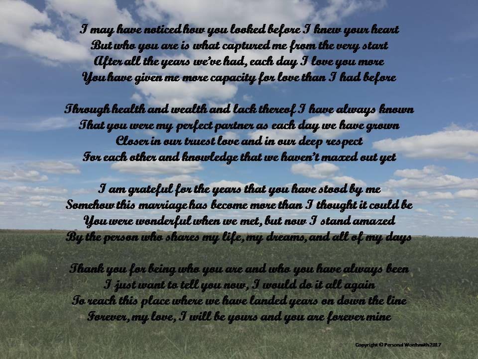 Anniversary poem digital download wedding anniversary