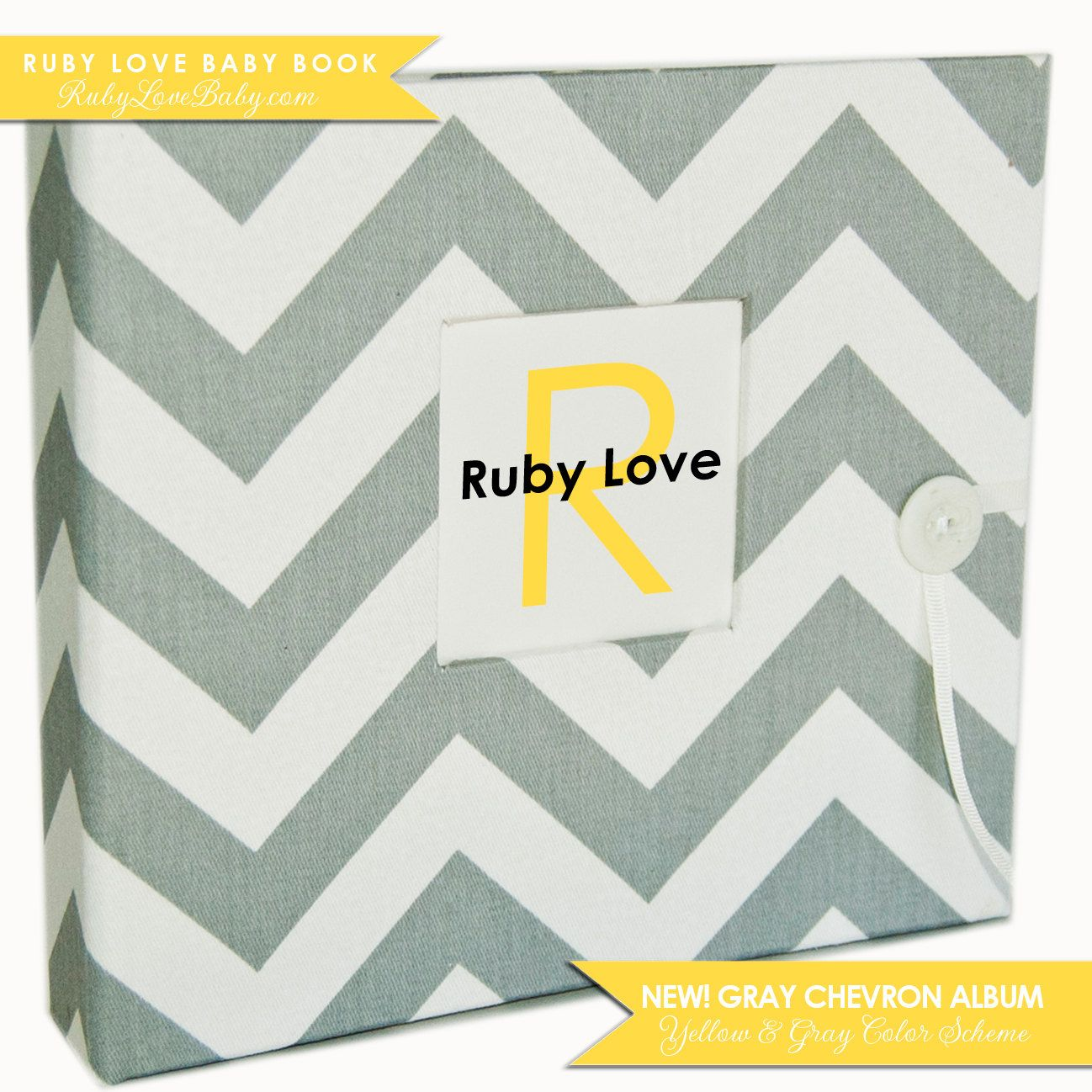 Brand New// Fall 2012 Gray Chevron Stripe Album . Ruby Love Modern Baby Book. $60.00, via Etsy. IN LOVE! So many designs and options! Must buy!