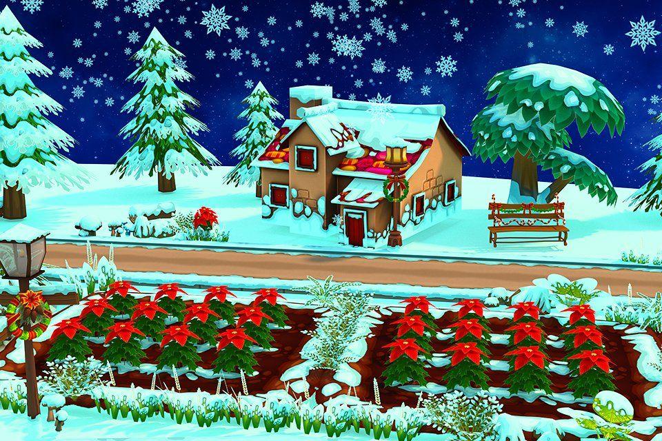 Cartoon Christmas Farm Christmas Farm Ribbon On Christmas Tree Christmas Tree Decorations