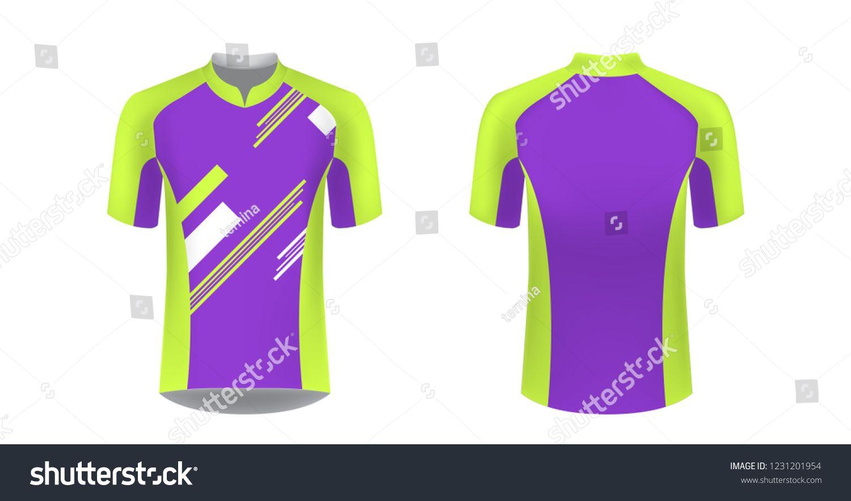 Cycling Jersey Vector Mockup T Shirt Sport Design Template