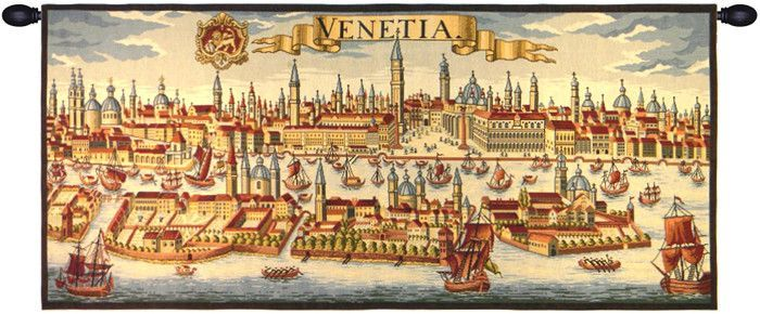 Venice Ancient Map Tapestry Wall Art Hanging   Products   Pinterest ...