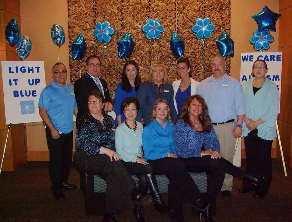 "The DoubleTree by Hilton Hotel Chicago - Arlington Heights is ""Lighting it up Blue for Autism""."