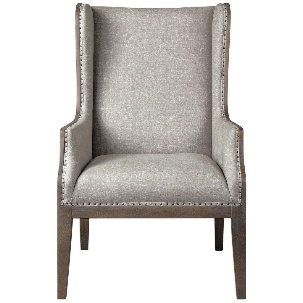 Park Art|My WordPress Blog_Grey Wingback Chair With Ottoman