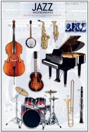 Jazz Instruments Plakat