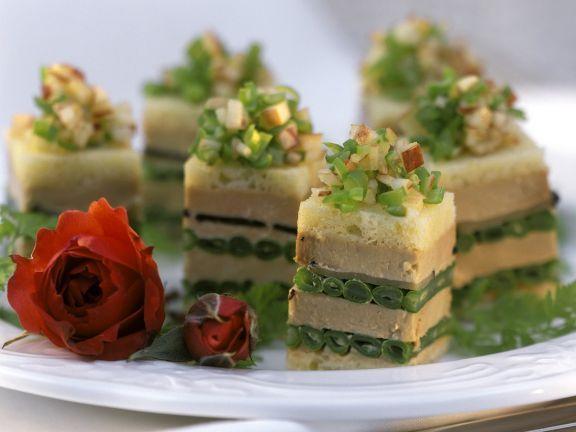 Gänseleber-Canapés Rezept Gänseleber, Gänse und Eat smarter - gruß aus der küche rezepte