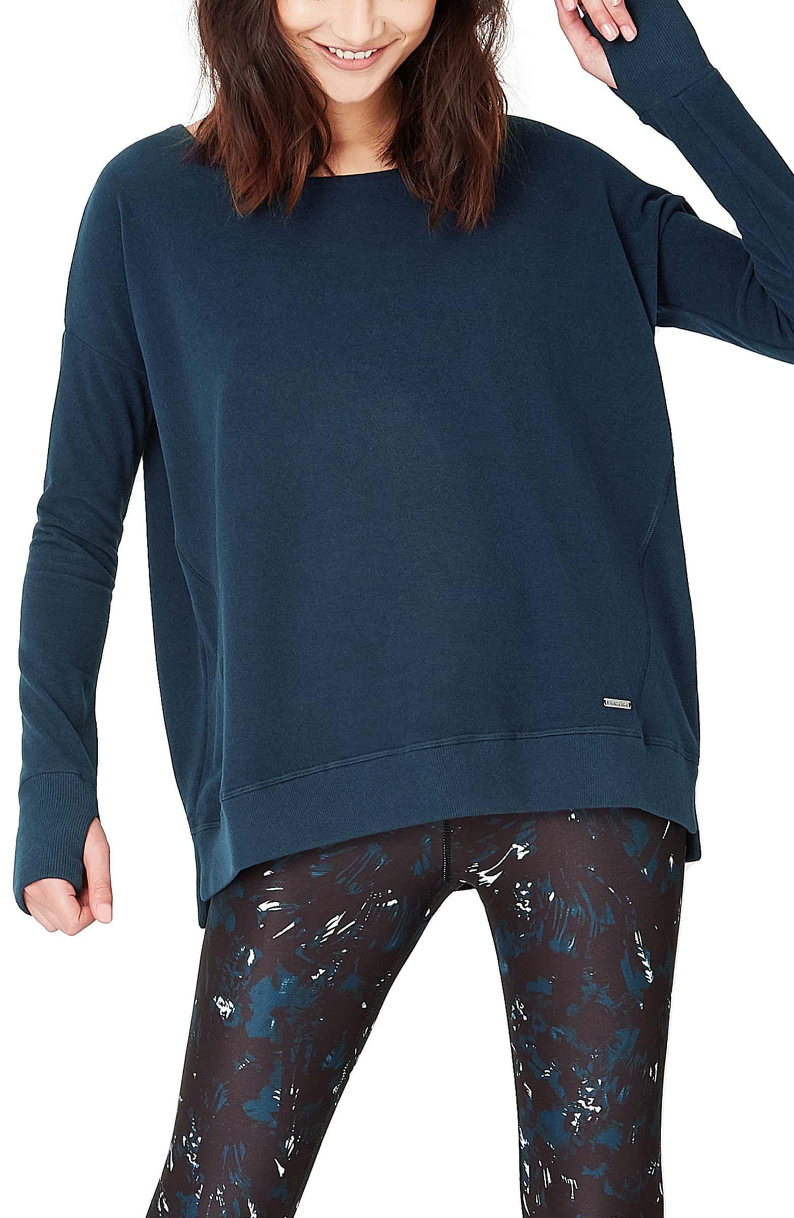 sweaty betty luxe simhasana sweatshirt