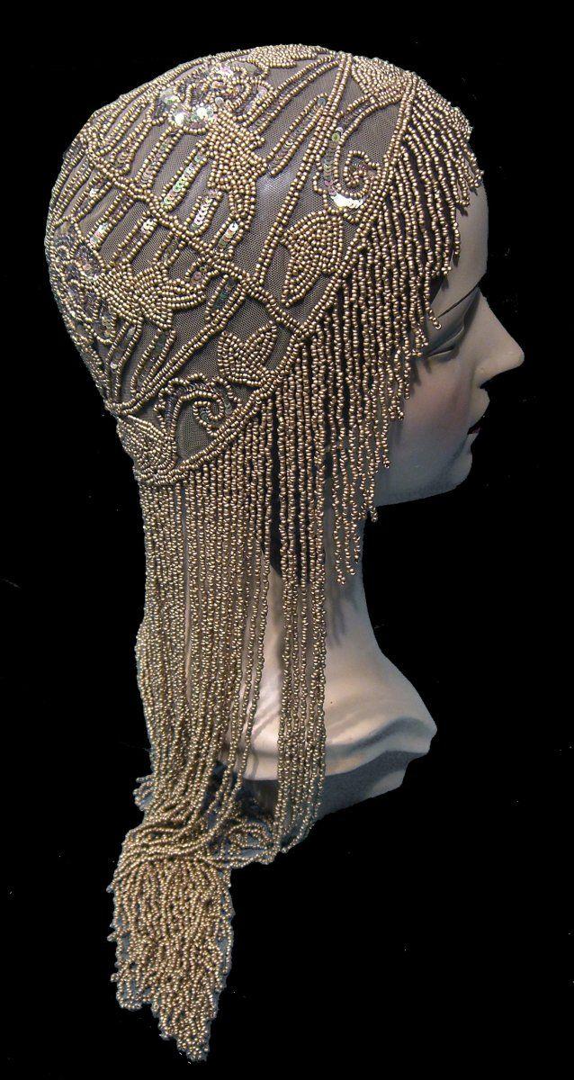 e30a5aa8594 The Tango Cap Gold 1920s beaded cap  MyVibeMyPearl