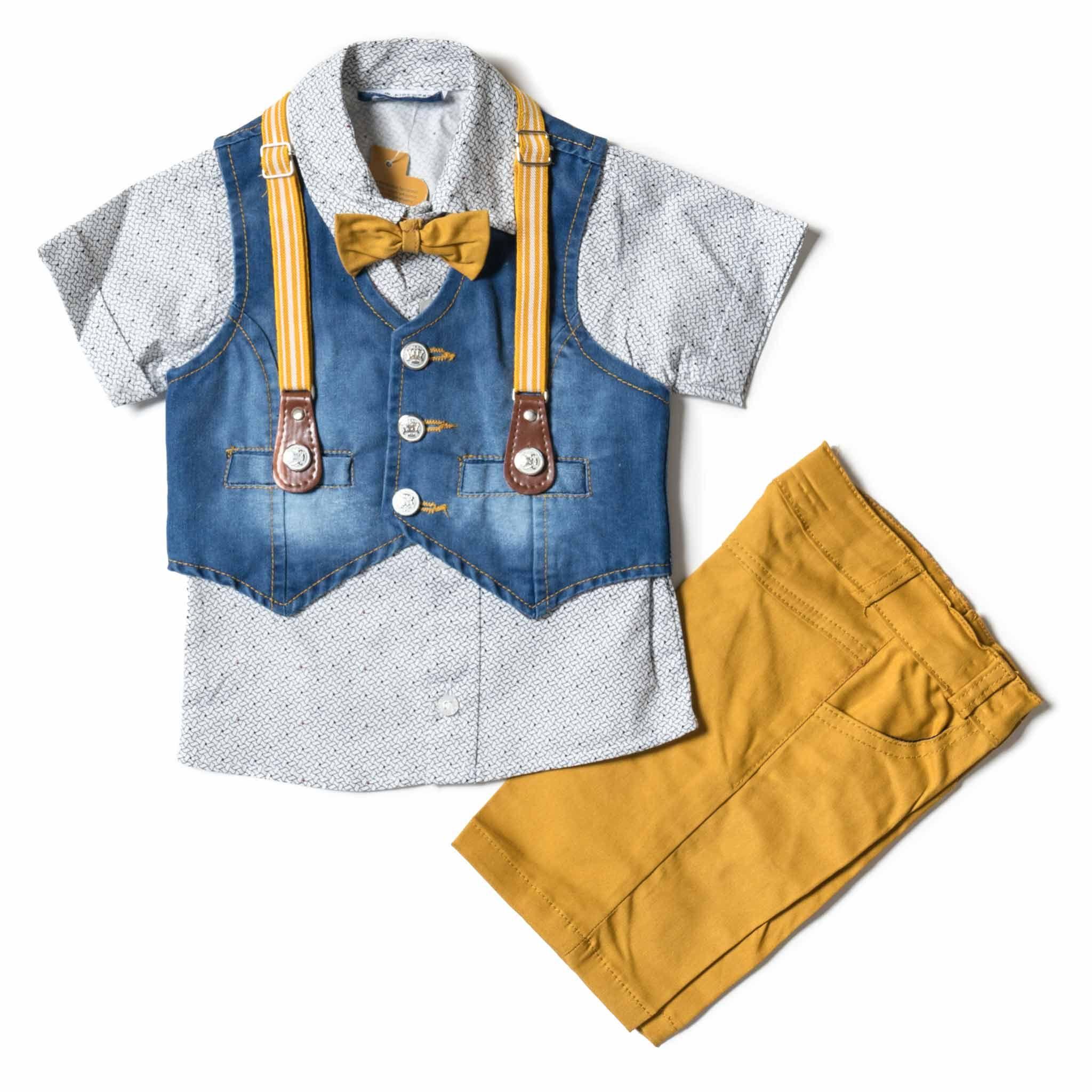 4ed4618d027 Παιδικό σετ για αγόρια afternoon κίτρινο: Παιδικό ρούχο για αγοράκια ...