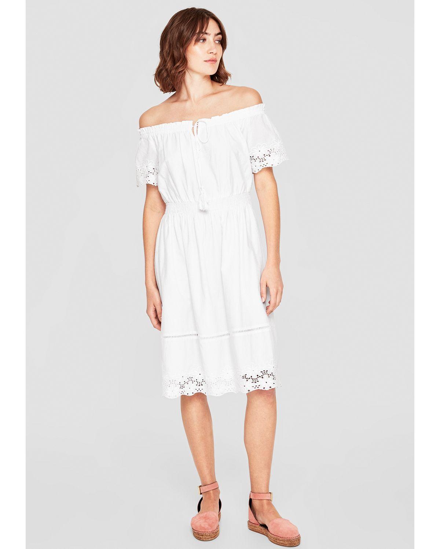 s.Oliver RED LABEL Besticktes Off Shoulder Kleid   Kleider