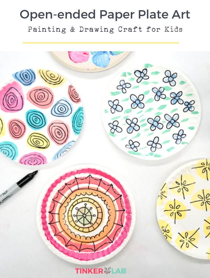 Painting And Drawing Paper Plate Craft Tinkerlab Paper Plate Crafts Paper Plate Art Plate Crafts