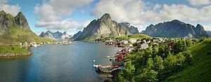 For hundreds of years fishing villages in the archipelago of Lofoten, Norway, produced dried and salted cod from cod fisheries. These villages were centred around the area now occupied by the village of Reine