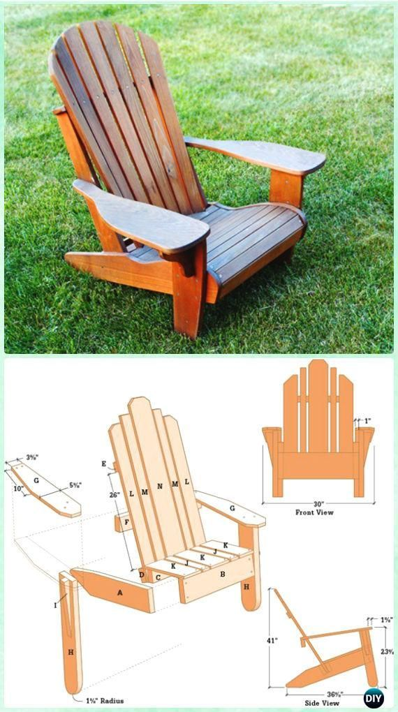 DIY Adirondack Chair Free Plans Instructions #woodworkingprojectschair