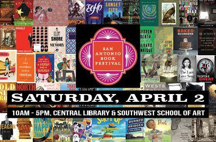 San Antonio Book Festival, Saturday April 2