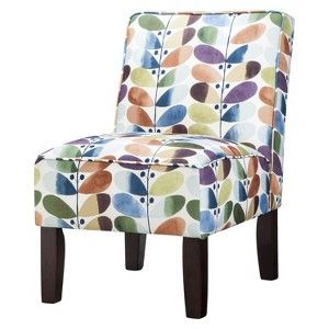 Burke Armless Slipper Chair   Multi Leaf