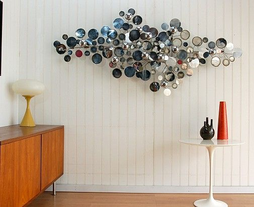 A Silver Raindrops Sculpture by Curtis Jere | Wall sculptures, 1960s ...