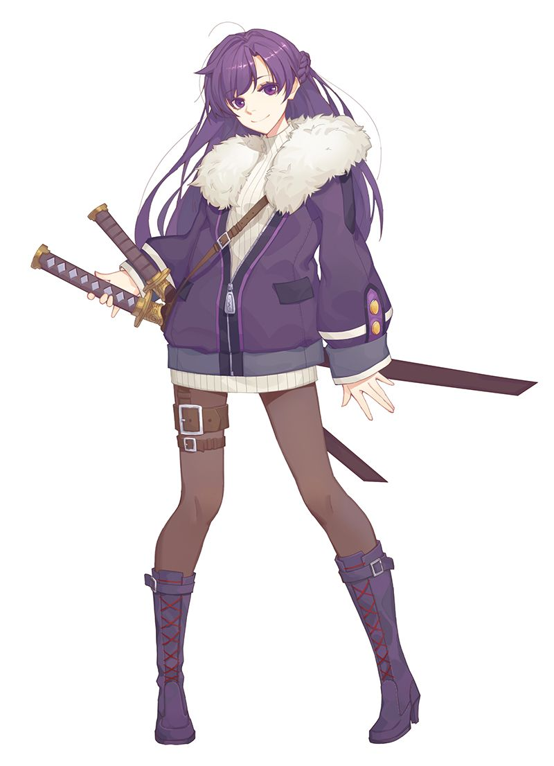 Modern japan samurai girl