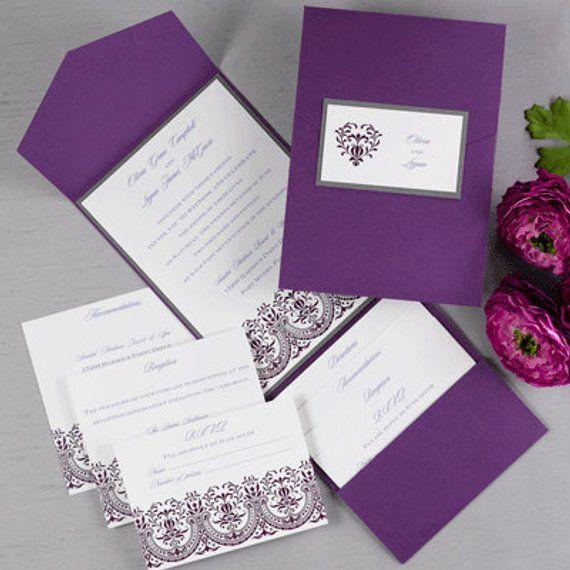 Carlson Craft Pocket Wedding Invitations: Quantity Of 25 DIY Pockets In Your Color Choice Aqua
