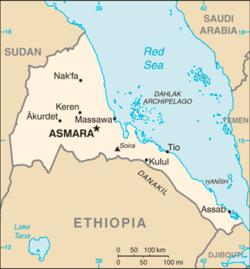 Map of Eritrea Eritrea Pinterest Africa and City