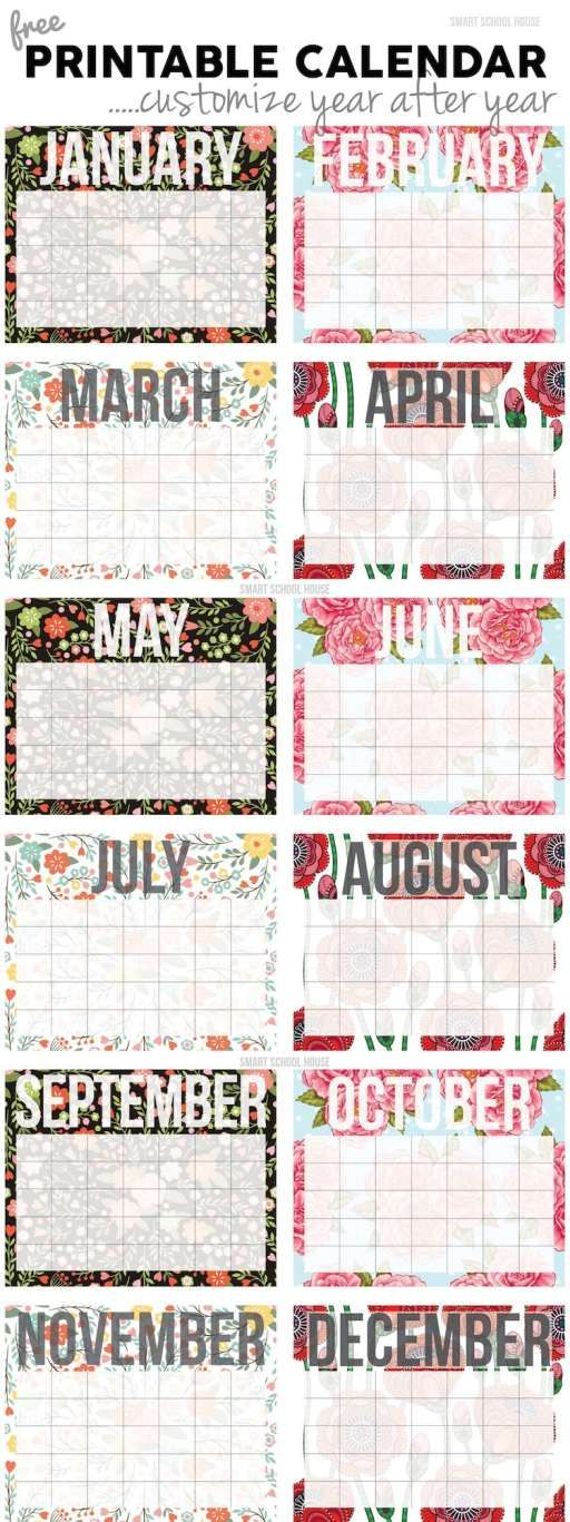 Free Calendar! Print and customize it year after year Barbara