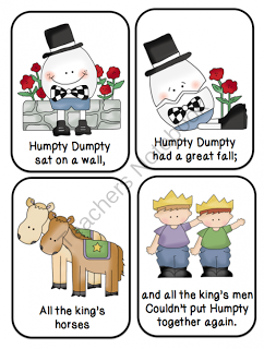 picture relating to Rhyming Flash Cards Printable titled Humpty Dumpty Nursery Rhyme Think about Flashcards Houriya Media