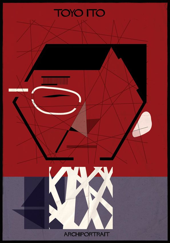 Beautiful Portraits Of Famous Architects, Comprised Using Their ...