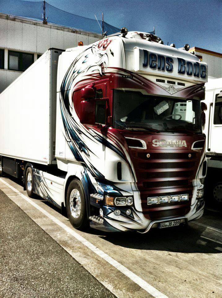 Scania Fb Audrey Cara Pintada No Caminhao Http Www