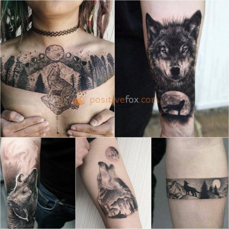 Best 100 Wolf Tattoo Ideas Wolf Tattoo Design Ideas With Meaning Wolf And Moon Tattoo Wolf Tattoos For Women Wolf Tattoo Sleeve