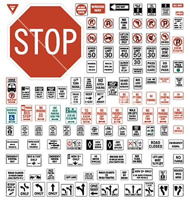 Usa Regulatory Road Signs Vector Miniature Sign Road Signs Waterslide Decal Paper