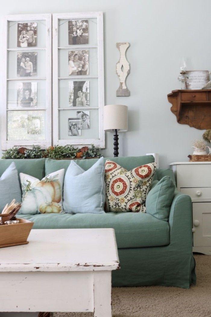 möbel shabby chic shabby chic wohnzimmertisch grünes sofa Möbel - wohnzimmertisch shabby chic