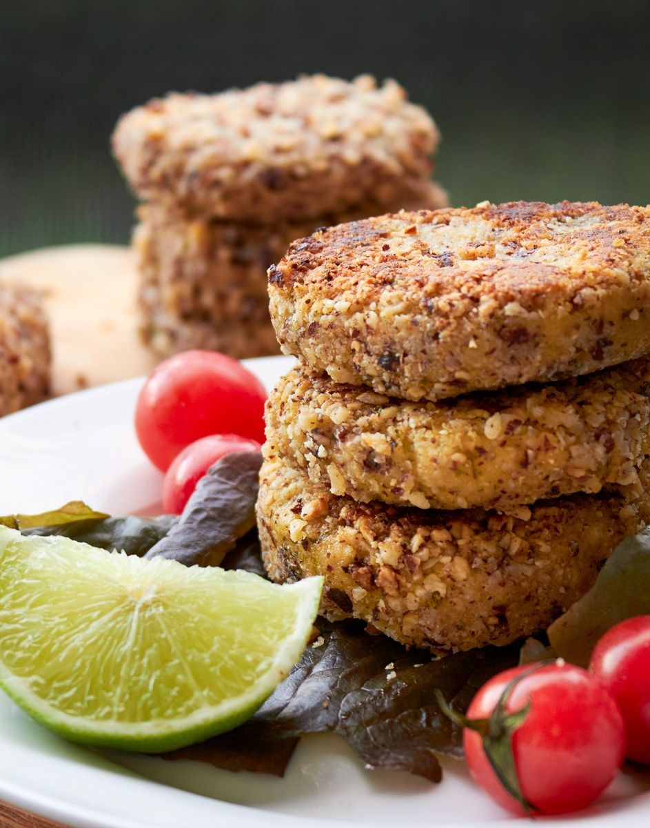 Mini coriander and lime burgers with a hazelnut crust recipe food forumfinder Choice Image