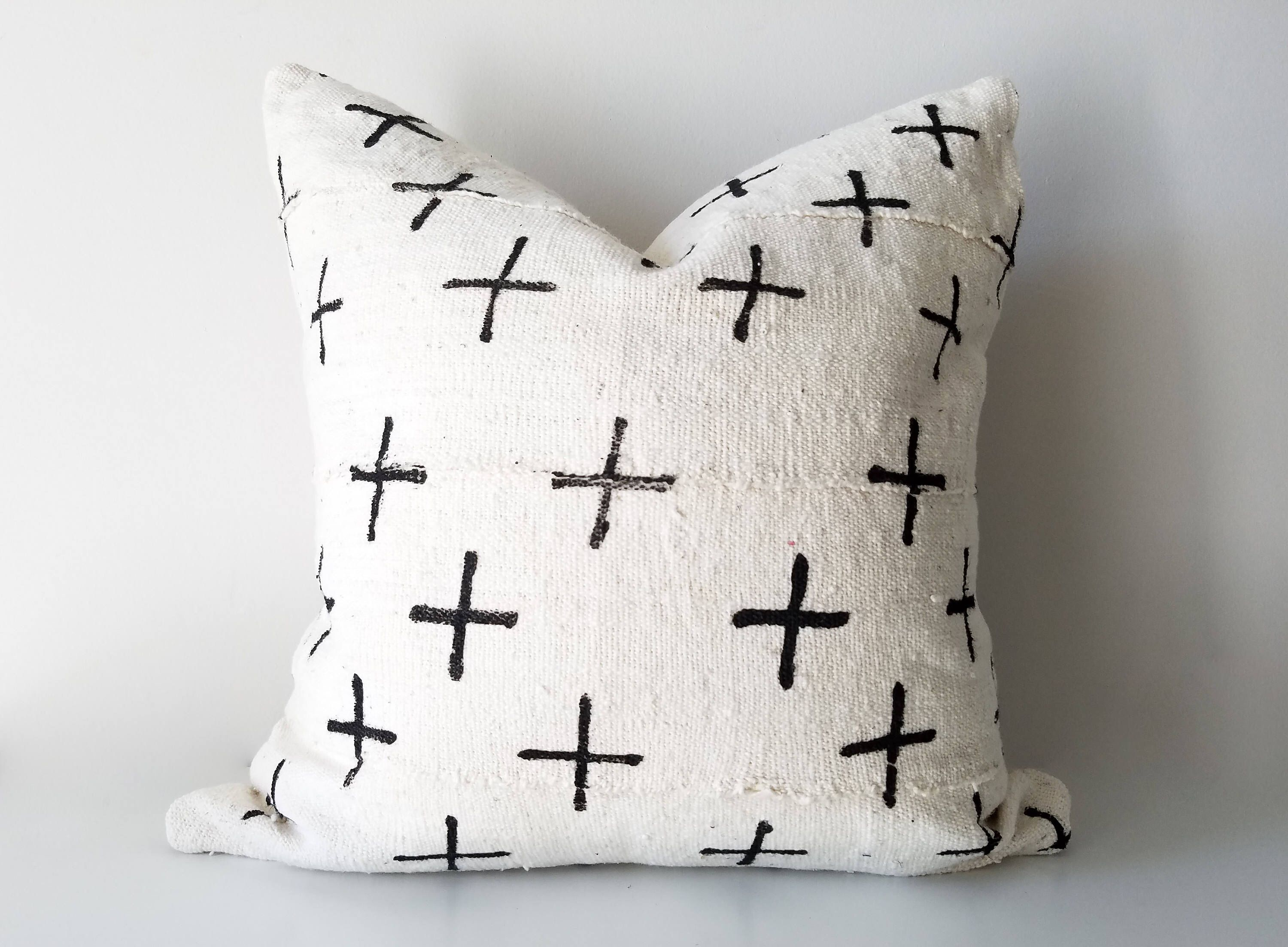 white img available sided and pillow black insert arrow print cover large products double african mudcloth