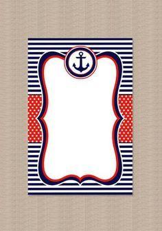 Invitaciones De Nautica Marinero Invitaciones Náuticas