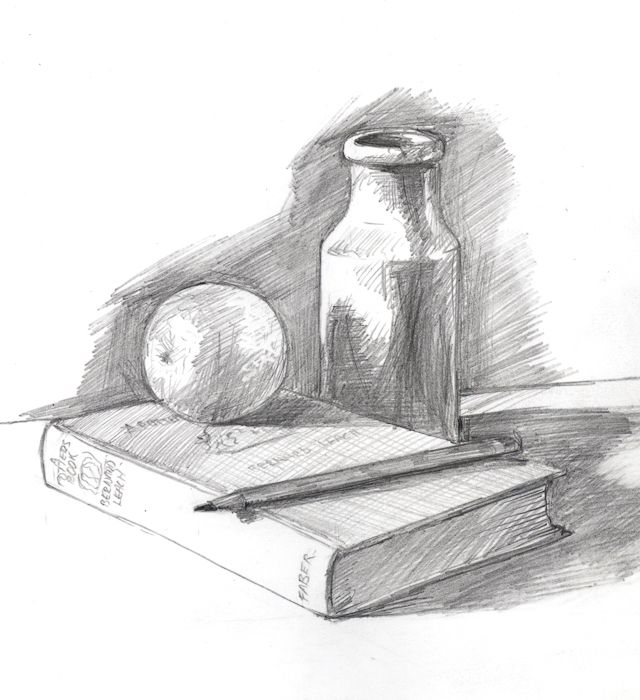 Excellent images for still life drawings in pencil with shading
