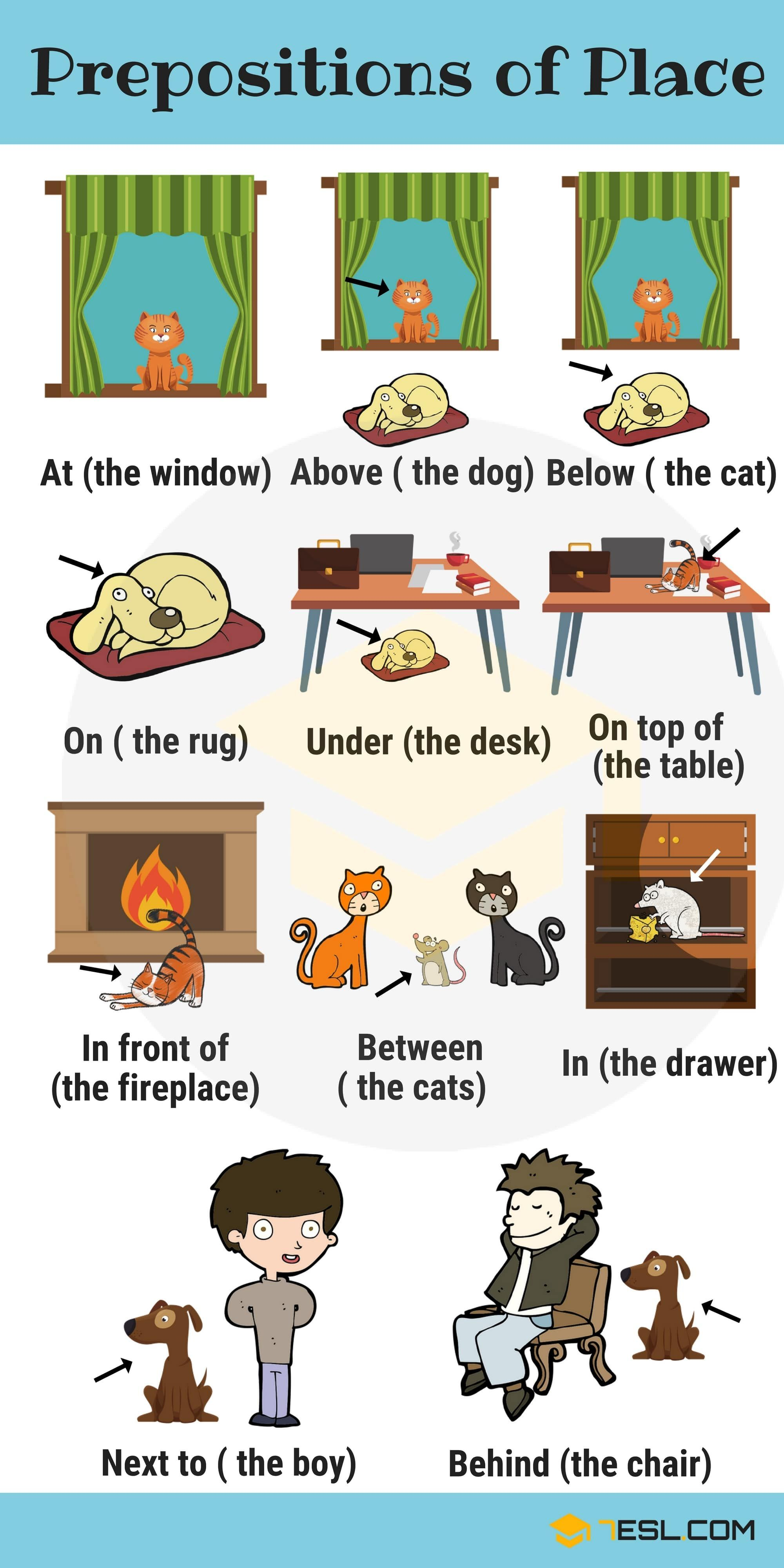 Learn English Prepositions With Pictures