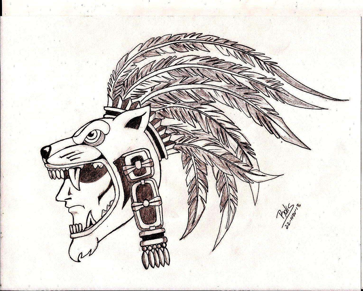 Guerrero Maya Jaguar Aztec Warrior Tattoos Guerreros Mayas