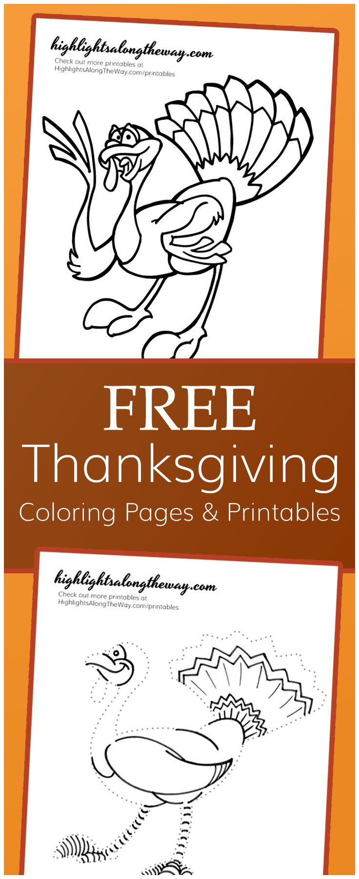 Thanksgiving coloring pages - printable cartoon turkeys ...