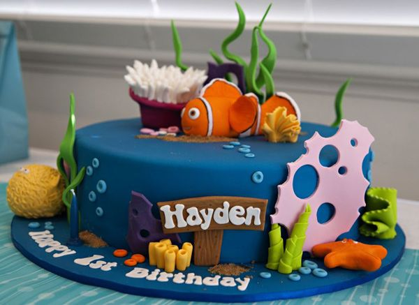 Best Ideas For Isaacs Bday Party Images On Pinterest Birthday - Nemo fish birthday cake