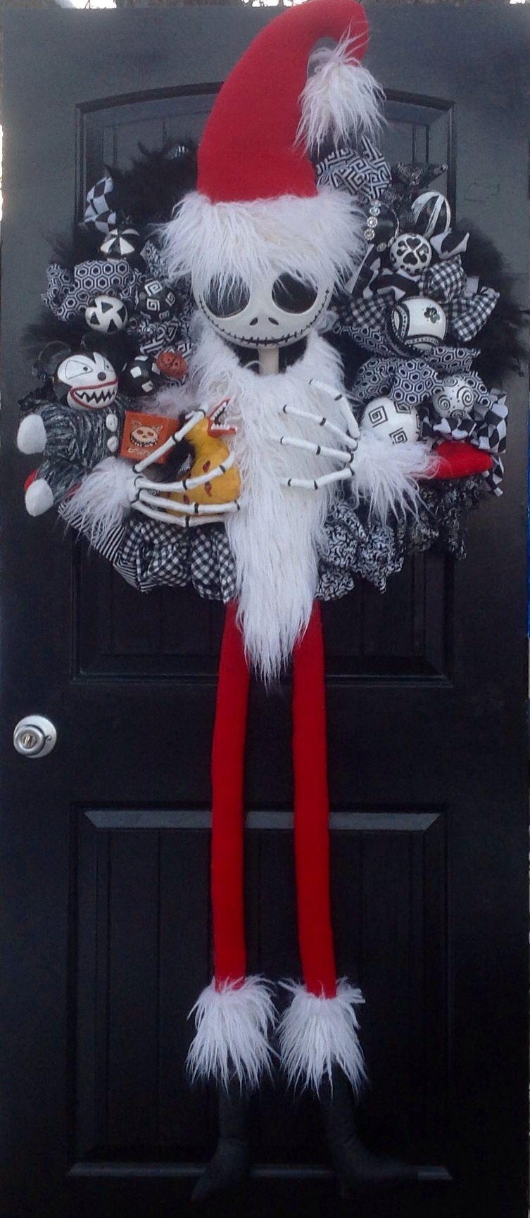 Nightmare Before Christmas Jack Skellington, Sandy Claws Wreath ...
